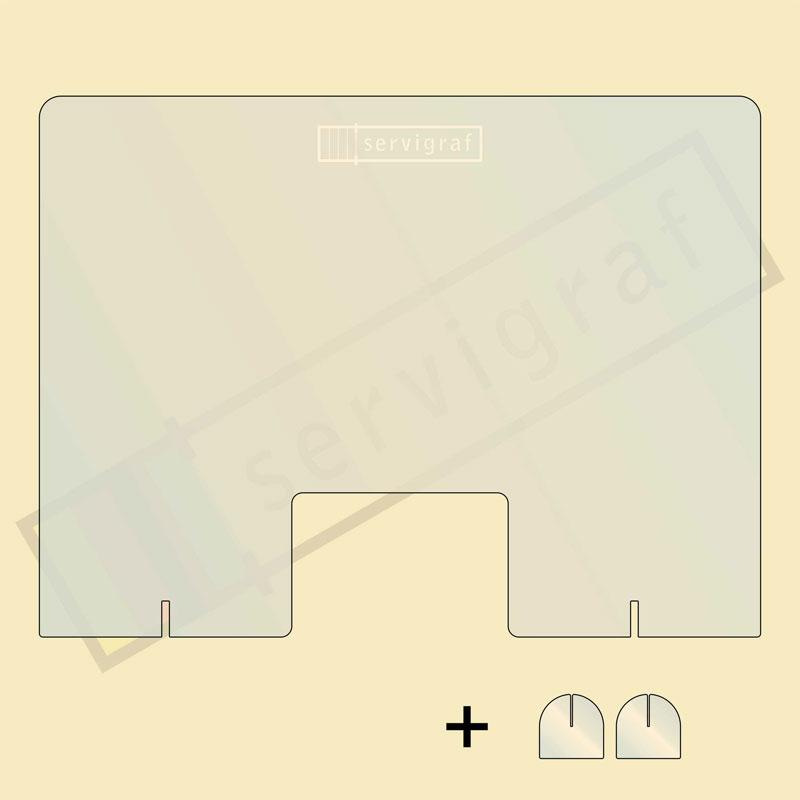 Mamparas portátiles personalizadas mediante grabado láser o vinilo - Servigraf